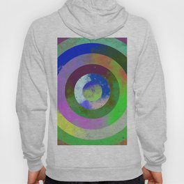 Textured Rings - Abstract, geometric, Concentric Circles Design Hoody