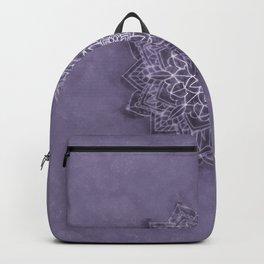 Vintage Lavender Watercolor Mandala Backpack