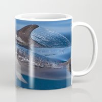 dolphins Mugs featuring Dolphins by Chloe Yzoard