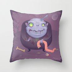 Blob Zombie Throw Pillow