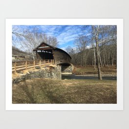 Virginia Covered Bridge Art Print