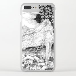 """untitled l ,series """"Illustration from a lost novel"""" Clear iPhone Case"""
