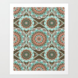 Toned Variety Pattern Art Print