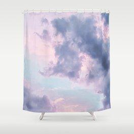 purple clouds Shower Curtain