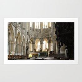 Church in Caen, France Art Print