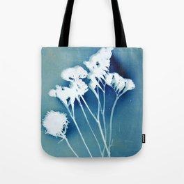 Blue Strawflower Tote Bag