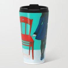 A Blue Bird Metal Travel Mug