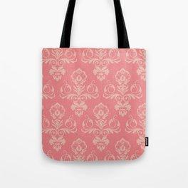 Dusty Rose Vintage Damask Tote Bag