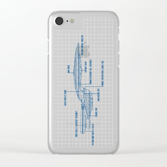 ENTERPRISE NCC-1701-D Clear iPhone Case