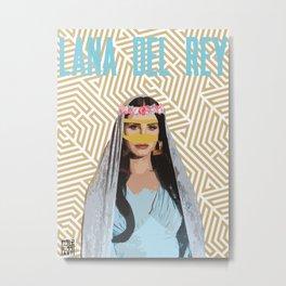 Lana Del Ray Metal Print
