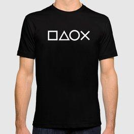Gamer Pattern (White on Black) T-shirt