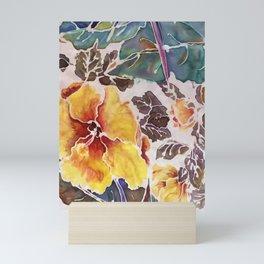silk hibiscus and bird of paradise Mini Art Print