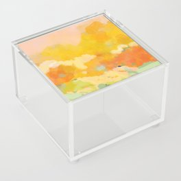 abstract spring sun Acrylic Box