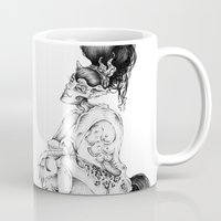 catwoman Mugs featuring catwoman by vasodelirium