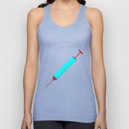 Simple Cartoon Style Hypodermic Needle Unisex Tank Top