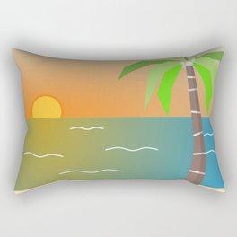 Beach Themed Set Rectangular Pillow