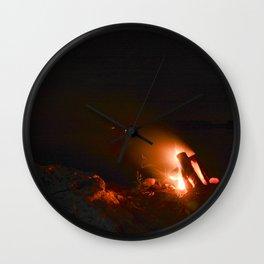 Campfire. Wall Clock
