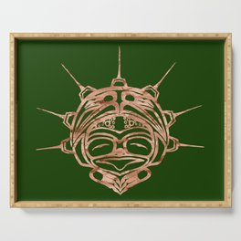 Copper Frog Grass Serving Tray