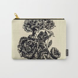 Peonies, black & white Carry-All Pouch