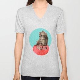 Messy Lil Cat Unisex V-Neck