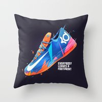 nike Throw Pillows featuring NIKE ZOOM by Ian Quijano