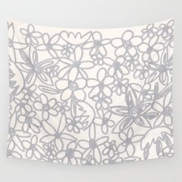 Flowers Doodle Wall Tapestry