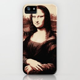 Mona Lisa Vintage iPhone Case