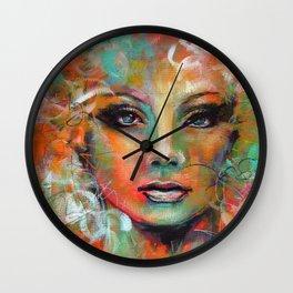 Little Colorgirl Original Painting Wall Clock