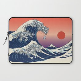 The Great Wave of Maltese Laptop Sleeve