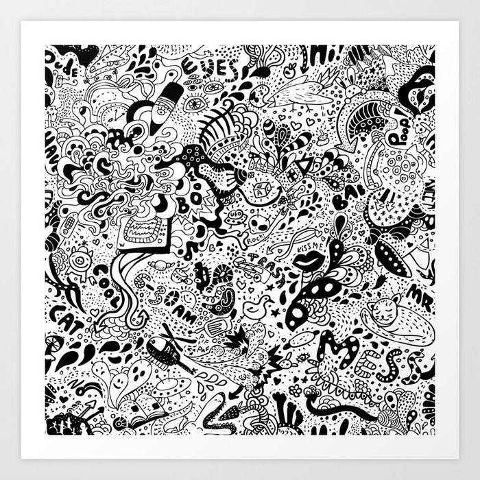 cute graphite Art Print