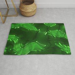 Shiny green Rug