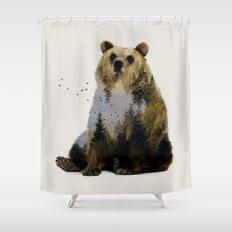 Bear Relaxing Shower Curtain