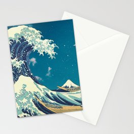 Great Wave Off Kanagawa and Starry Sky Stationery Cards