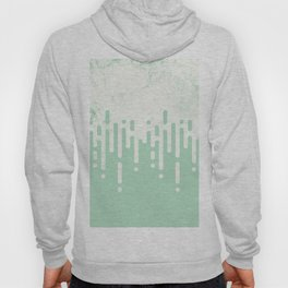 Marble and Geometric Diamond Drips, in Mint Hoody