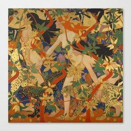 DIANA AND HER NYMPHS - ROBERT BURNS Canvas Print