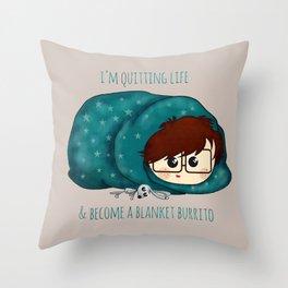 blanket burrito /Agat/ Throw Pillow