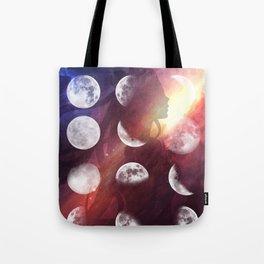 Moon Goddess Selene Tote Bag