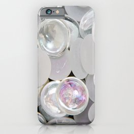 White Glass Marble iPhone Case