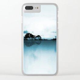Nature Guitar Blues Clear iPhone Case