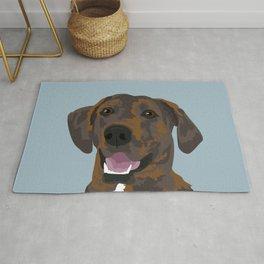 Cooper Brindle Dog Rug