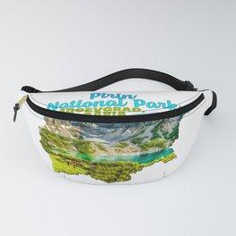 Pirin National Park Blagoevgrad Bulgaria Vihren National Pond Water Hill Tree Green Fanny Pack