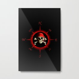 Pirate Compass Rose Metal Print