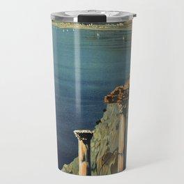 Vintage Taormina Sicily Italian travel ad Travel Mug