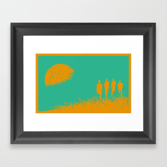"""New Moon"" by Justin Hopkins (Green Version) Framed Art Print"