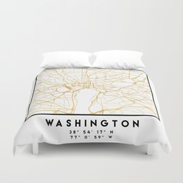 WASHINGTON D.C. DISTRICT OF COLUMBIA CITY STREET MAP ART Duvet Cover