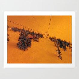 Sunshine Chairlift Art Print
