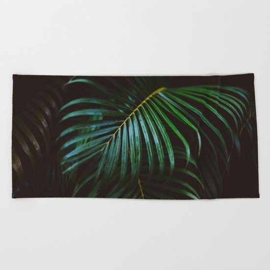 Tropical Palm Leaf Beach Towel