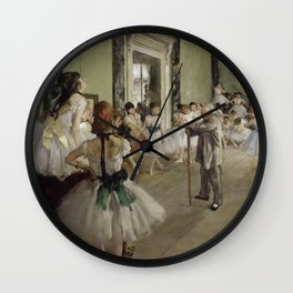 "Edgar Degas ""The Ballet Class"" Wall Clock"