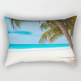 Turquoise Tropical Beach Rectangular Pillow