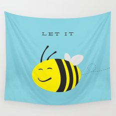 Let it bee. Wall Tapestry